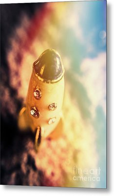 Flight Of Space Fiction Metal Print