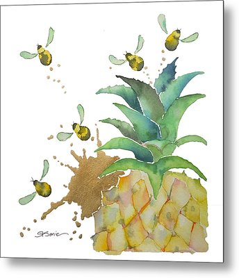 Flight Of The Bumblebee No19 Metal Print by Roleen Senic