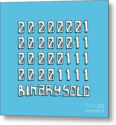 Flight Of The Conchords Binary Solo Robots Humans Are Dead Numbers Metal Print by Paul Telling
