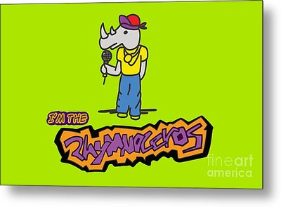 Flight Of The Conchords The Hiphopopotamus And The Rhymenoceros The Rhymenoceros Version 1 Metal Print by Paul Telling
