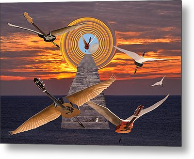 Flight Of The Guitars Metal Print by Eric Kempson