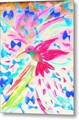 Flight Of The Hummingbird - Abstract Metal Print