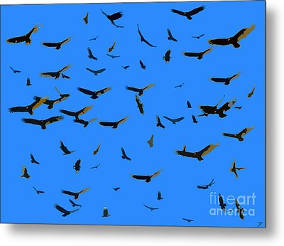 Flight Of The Vultures Metal Print by David Lee Thompson