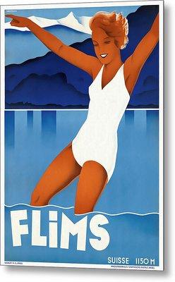 Flims - Switzerland - Restored Metal Print