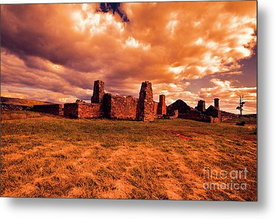 Metal Print featuring the photograph Flinders Ranges Ruins by Douglas Barnard