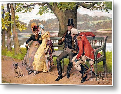 Flirtation, C1810 Metal Print by Granger