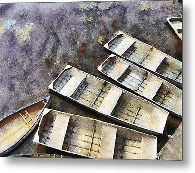 Float And Boat Metal Print by Jim Proctor