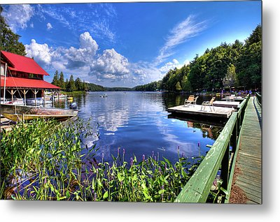 Metal Print featuring the photograph Floating Bridge At Covewood by David Patterson