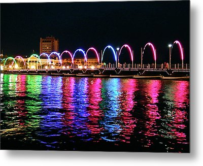 Metal Print featuring the photograph Floating Bridge, Willemstad, Curacao by Kurt Van Wagner