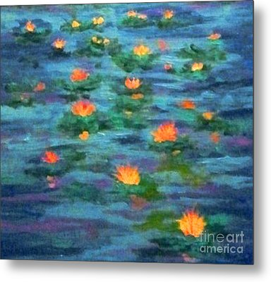 Floating Gems Metal Print by Holly Martinson