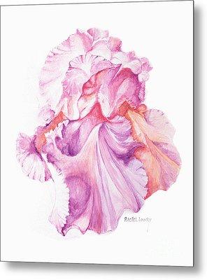 Floating Iris 1 Metal Print by Rachel Lowry