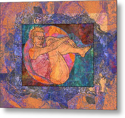 Floating Woman Metal Print by Mary Ogle