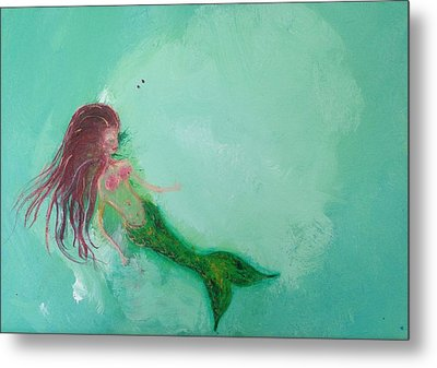 Floaty Mermaid Metal Print by Roxy Rich