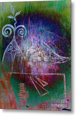 Flocking To Abstraction Metal Print