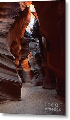 Floor Of Antelope Canyon Metal Print