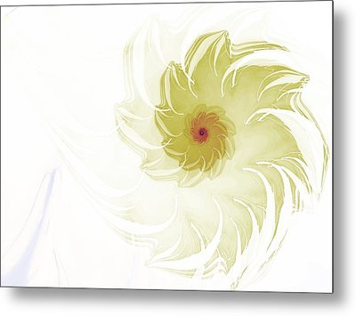 Metal Print featuring the digital art Flora by Richard Ortolano
