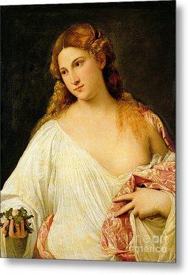 Flora Metal Print by Titian
