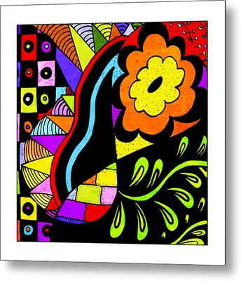 Floral #7 Metal Print by Susan Leggett