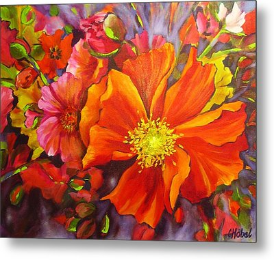 Metal Print featuring the painting Floral Abundance by Chris Hobel