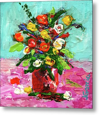 Floral Arrangement Metal Print