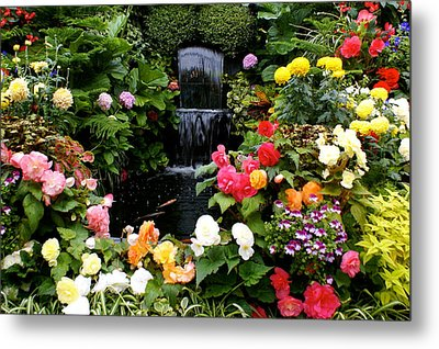 Floral Bless Metal Print by Sonja Anderson