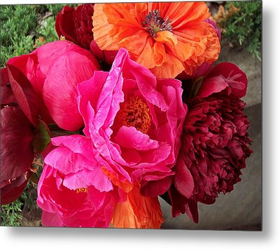 Floral Bouquet Metal Print by Rebecca Overton