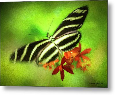 Floral Butterfly Metal Print by Marvin Spates