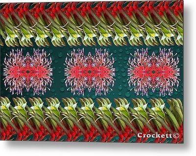 Floral Contemporary Art Metal Print