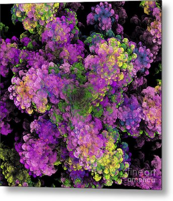 Metal Print featuring the digital art Floral Fancy Abstract by Andee Design