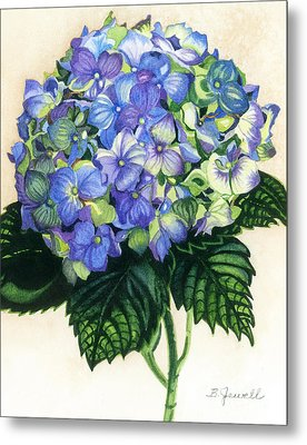 Metal Print featuring the painting Floral Favorite by Barbara Jewell
