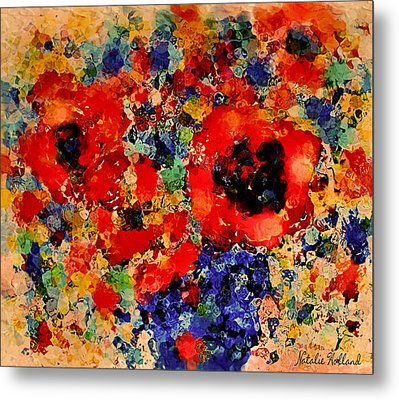 Floral Happiness Metal Print by Natalie Holland