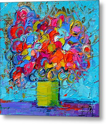 Floral Miniature - Abstract 0415 Metal Print by Mona Edulesco