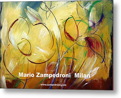 Floral Poster Metal Print by Mario Zampedroni