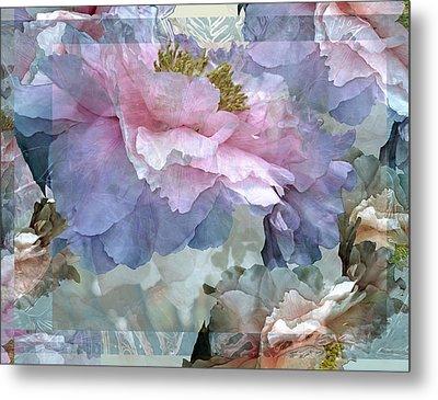 Floral Potpourri With Peonies 24 Metal Print by Lynda Lehmann