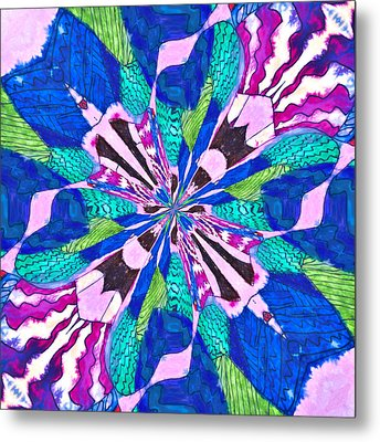 Floral Thing Metal Print by Susan Leggett