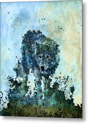 Floral Wolf 5 Metal Print