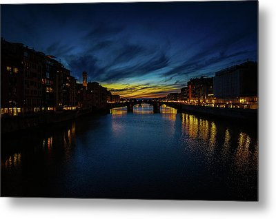 Florence At Sunset Metal Print