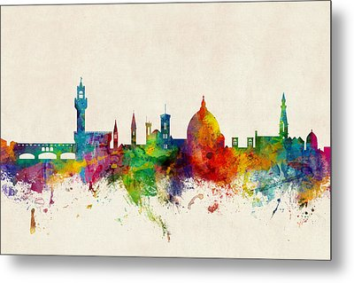 Florence Italy Skyline Metal Print by Michael Tompsett