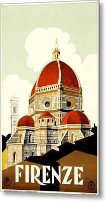 Florence Travel Poster Metal Print