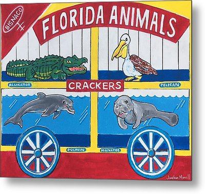Florida Animal Crackers Metal Print