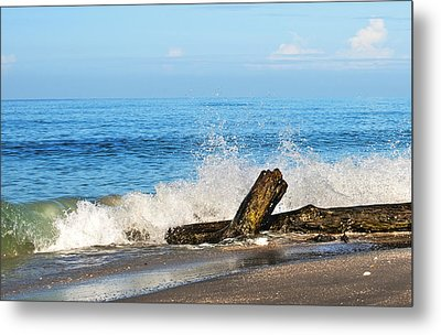 Metal Print featuring the photograph Florida Beach by Gouzel -