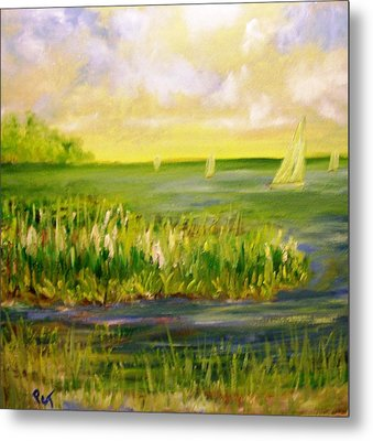 Florida Coastal Sailing Metal Print by Patricia Taylor