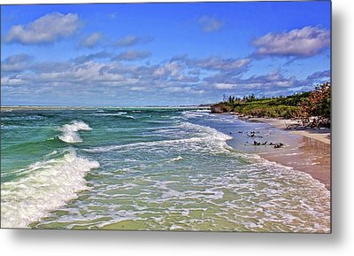Florida Gulf Coast Beaches Metal Print by HH Photography of Florida