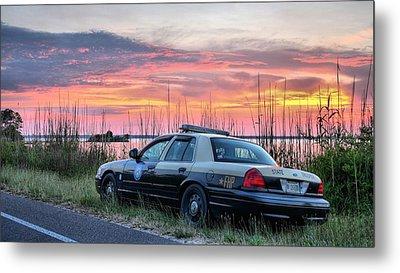 Florida Highway Patrol Metal Print by JC Findley