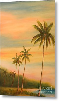Florida Palms Trees Metal Print by Gabriela Valencia