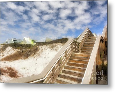 Metal Print featuring the photograph Florida Panhandle Sand Dunes by Mel Steinhauer