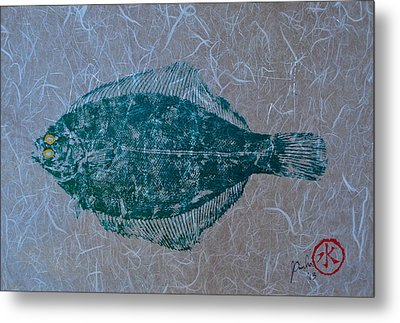 Flounder - Winter Flounder - Black Back Metal Print