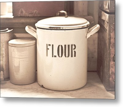 Flour Tin Metal Print