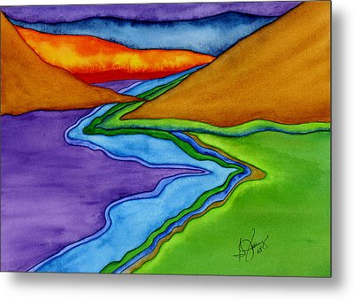 Flow - Blending The Chakras Metal Print by Stephanie  Jolley