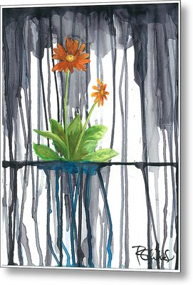 Flower #1 Metal Print by Rebecca Childs